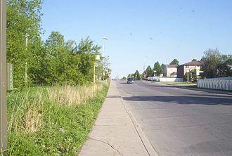 Rivière-des-Prairies–Pointe-aux-Trembles - A typical suburban area of Rivière-des-Prairies.