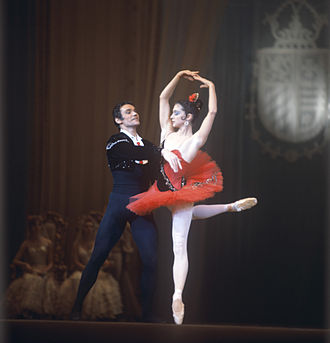 Ekaterina Maximova - Ekaterina Maximova as Kitri and her husband Vladimir Vasiliev as Basilio in Don Quixote at the Bolshoi Theatre. (c. 1970)