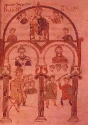 Edictum Rothari - Illumination of a manuscript of the Edict of Rothari