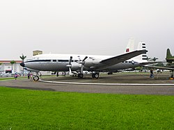 ROCAF C-118 in Military Airplanes Display Area 20111015.jpg
