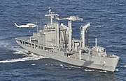 ROKS Hwacheon (AOE 59) in counter-terror exercise