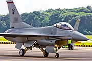 RSAF F-16 in alert fighter taxi-ing