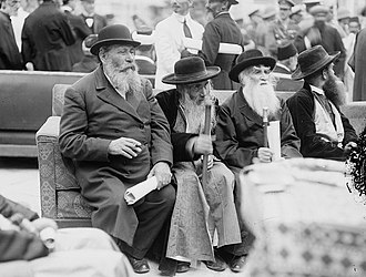 Yosef Chaim Sonnenfeld - Image: Rabbis at High Commissioner's Reception, Jerusalem 1920