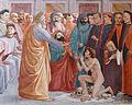 Raising of the Son of Teophilus Masaccio-Lippi Cappella Branccacci n01.jpg