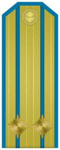 Rank insignia of Подполковник of the Bulgarian Air forces.png