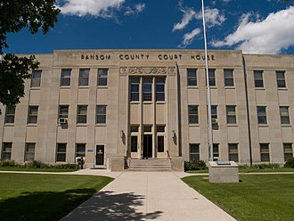 Ransom County, North Dakota - Image: Ransom County Courthouse 2008