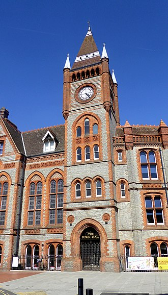 Reading Town Hall - Image: Reading Town Hall Frontage
