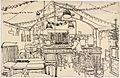 Ready for Christmas, the Canteen under St. Martin's-in-the-Fields. (1941) (Art.IWM ART LD 800).jpg