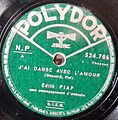 Record Label Polydor, France, J'ai dansé avec l'amour.jpg