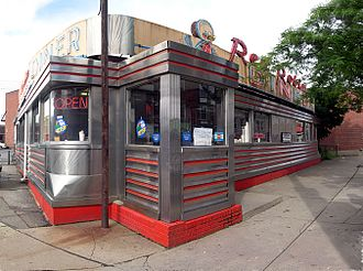Johnson City, New York - Red Robin Diner in downtown Johnson City