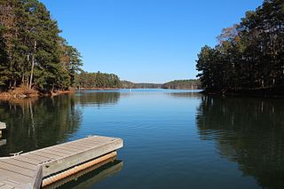 Lake Allatoona dam in Cartersville, Georgia