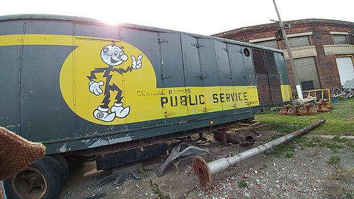 Reddy Kilowatt at Midwest Railway Preservation Society