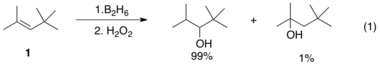 Regiospecific hydroboration with borane