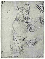 Rembrandt Sketch of a Bearded Old Man and Three Studies of Headgear.jpg