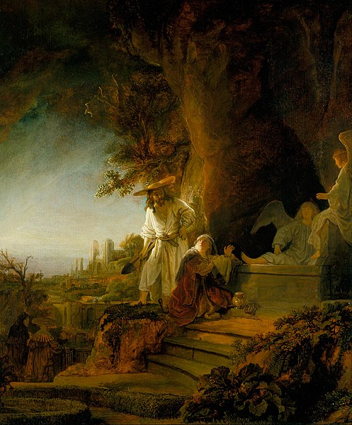 File:Rembrandt van Rijn - Christ and St Mary Magdalen at the Tomb - Google Art Project.jpg