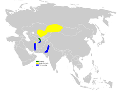 Remiz coronatus distribution map.png