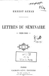 Ernest Renan: Lettres du séminaire (1838-1846)