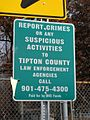 Report Crimes sign Tipton County TN 2013-11-24 005.jpg