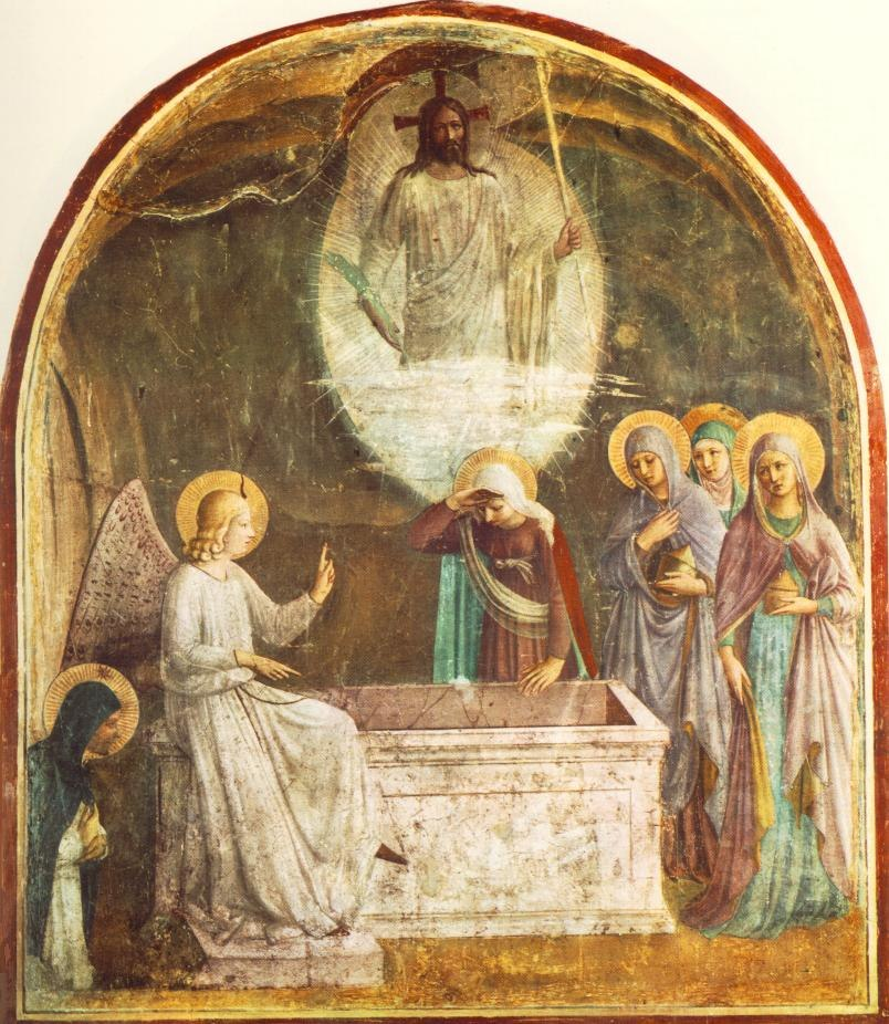 Resurrection of Christ and Women at the Tomb by Fra Angelico (San Marco cell 8)