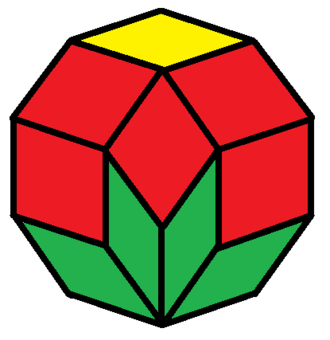 Decagon - Image: Rhombic dissected decagon