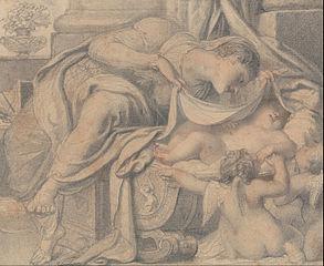 Venus Adoring Cupid