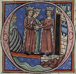 Richard I and Joan greeting Philip Augustus.jpg