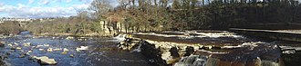 Richmond, North Yorkshire - Image: Richmond falls panorama