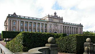 Parliament House, Stockholm - Parliament House (Riksdagshuset), Stockholm.