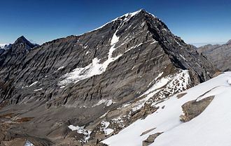 Balmhorn - The southern flanks of the Rinderhorn and Balmhorn seen from the Ferdenrothorn