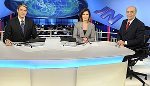 Rede Globo - The Brazilian journalist William Bonner interviewed José Serra for the Jornal Nacional.