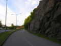 Road and mountain wall.JPG