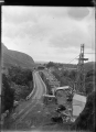 Road bridge under construction over the Manawatu River in the Manawatu Gorge at the Woodville end ATLIB 311368.png