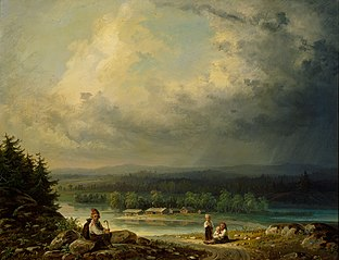Landscape with four Peasant Childen