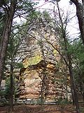 Outcropping rock