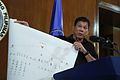Rodrigo Duterte showing diagram of drug trade network 2 7.7.16.jpg