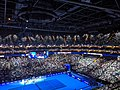 Roger Federer v Novak Djokovic at 2019 ATP Finals (49070855032).jpg