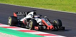 Romain Grosjean Haas VF-18 Barcelona testing.jpg