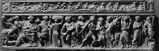 Roman - Sarcophagus Depicting the Birth of Dionysus - Walters 2333
