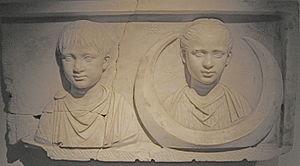 Roman grave relief, c. 80 AD