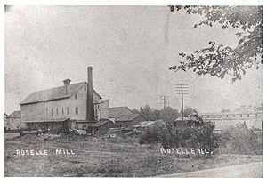 Roselle, Illinois - Image: Roselle mill