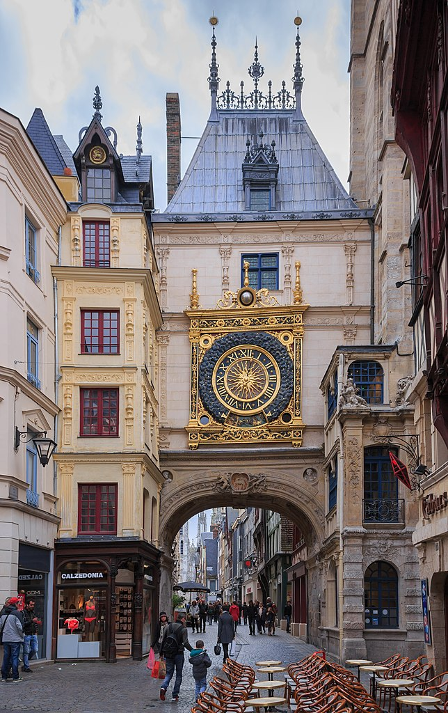 File Rouen France Gros Horloge Wikimedia Commons