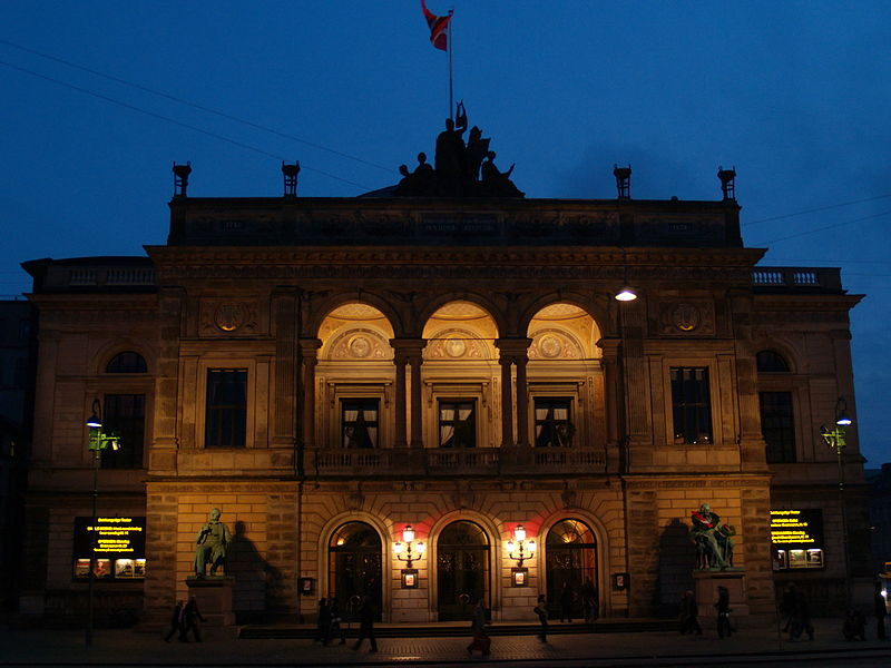 File:Royal Danish Theatre by night.jpg