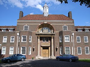 Royal Masonic School - The front entrance of the current Rickmansworth school.