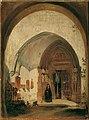 Rudolf von Alt - Das Portal der Stiftskirche Nonnberg in Salzburg - 5463 - Österreichische Galerie Belvedere.jpg