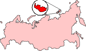 New Siberia - Location of New Siberia in the Russian Federation.