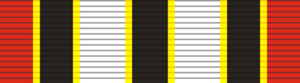 Orders, decorations, and medals of Uganda - Image: Rwenzori Star (Uganda) ribbon bar