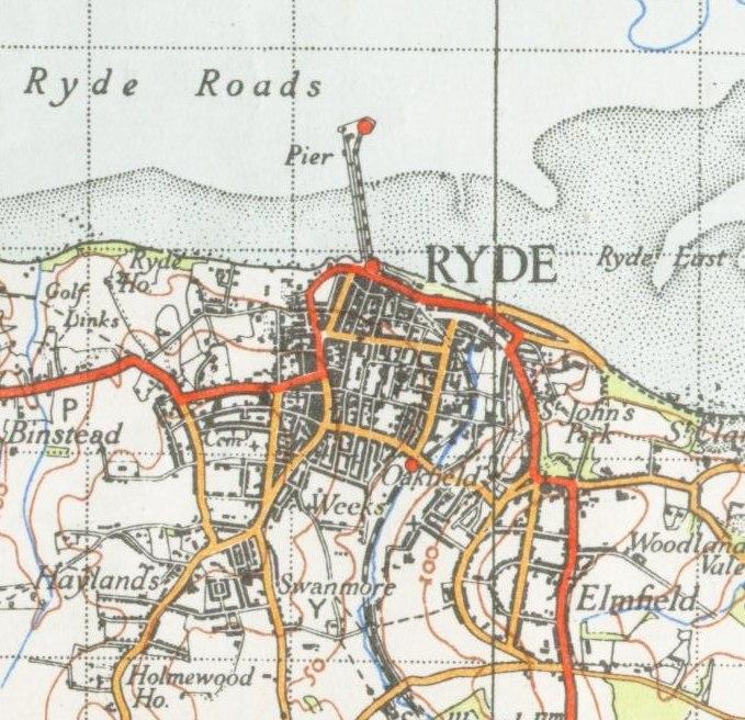 Ryde map 1945