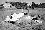 SAI KZ II OH-KZS after a forced landing in Pyhäranta (July 1953).jpg