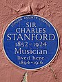 SIR CHARLES STANFORD 1852-1924 Musician lived here 1894-1916.jpg
