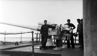 QF 4.7-inch Mk V naval gun - On troopship SS Orca, March 1919